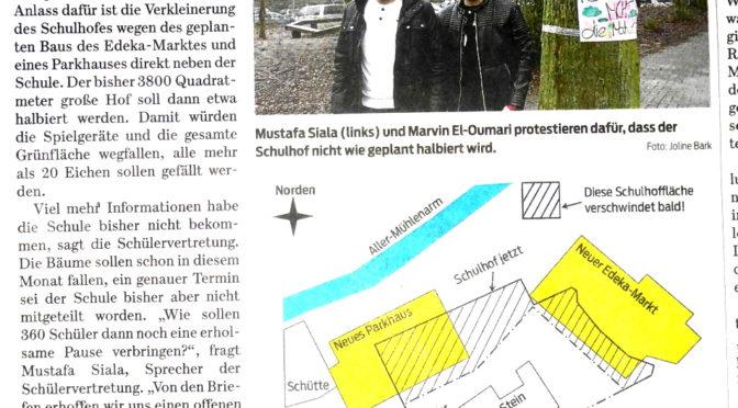 Pressebericht Gifhorner Rundschau: Umbau des Pausenhofes an der Steinschule