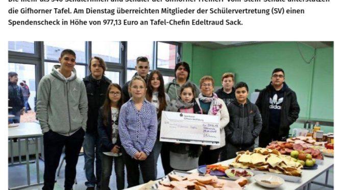 Schüler erlaufen Spende für die Gifhorner Tafel