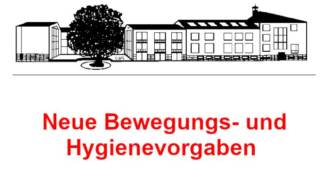 [WICHTIG!]Bewegungs- und Hygienevorgaben für das Schuljahr 2020/2021